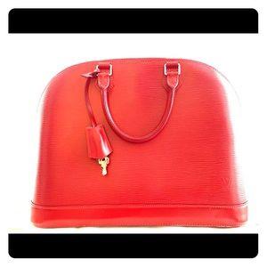 Epi leather Alma bag
